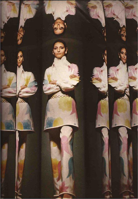 MILA SCHON SPRING 1970 VOGUE ITALIA MARCH 1970 PHOTOGRAPHY: UGO MULAS