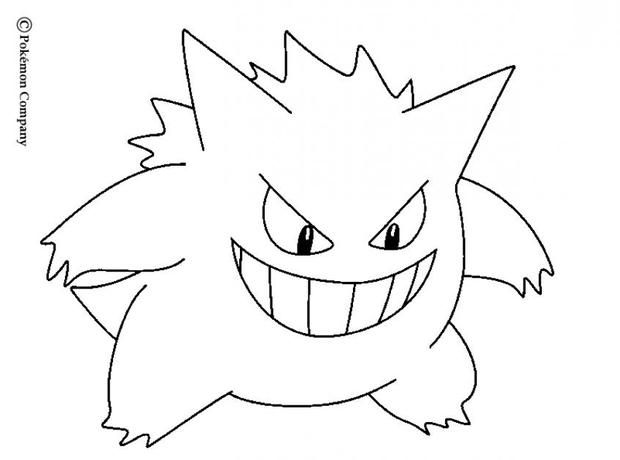 Gengar Color Page Google Search Drawings Pokemon Coloring