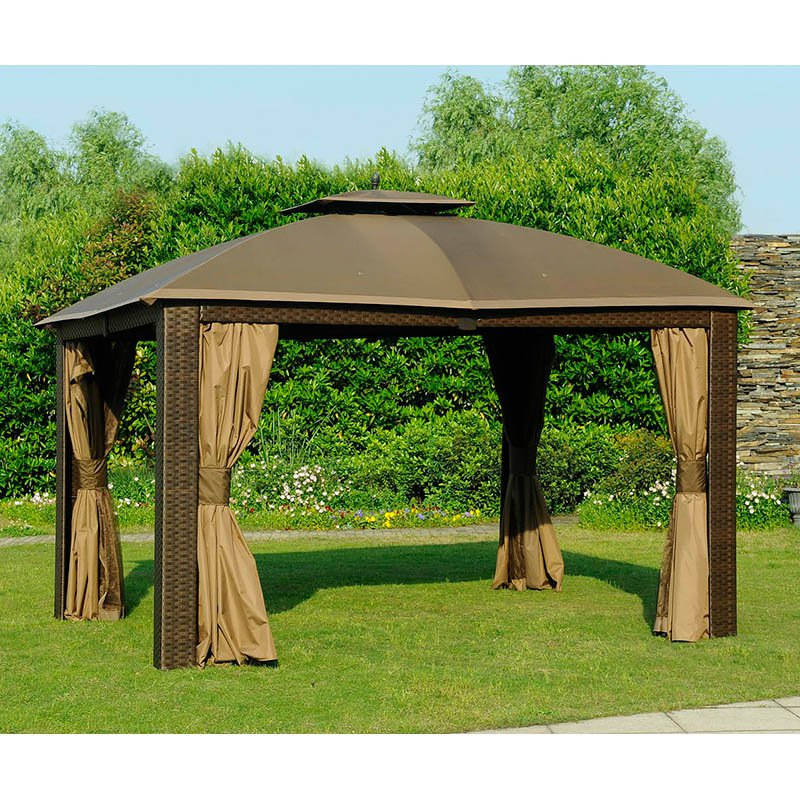 Sunjoy 10 X 12 Ft Replacement Canopy Cover For L Gz815pst Deluxe Sonoma Wicker Gazebo 110109518 Products Gazebo Replacement Canopy Canopy