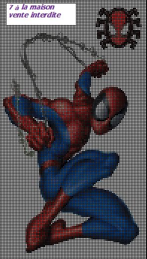 grille gratuite de Spiderman   Spiderman, Motifs de toile, Point de croix
