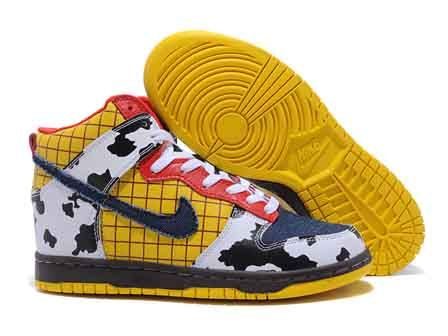 separation shoes 4ab75 2e02d Toy Story Nike High Tops Dunk Woody 82.68