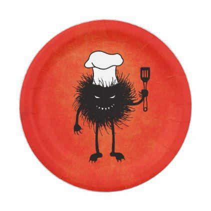 Evil Bug With Chef Hat Loves To Cook Paper Plate - decor gifts diy home u0026  sc 1 st  Pinterest & Evil Bug With Chef Hat Loves To Cook Paper Plate - decor gifts diy ...