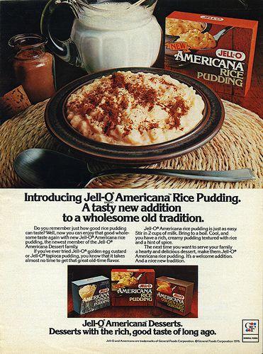 Jell-O - American Desserts - Tapioca Pudding, Rice Pudding