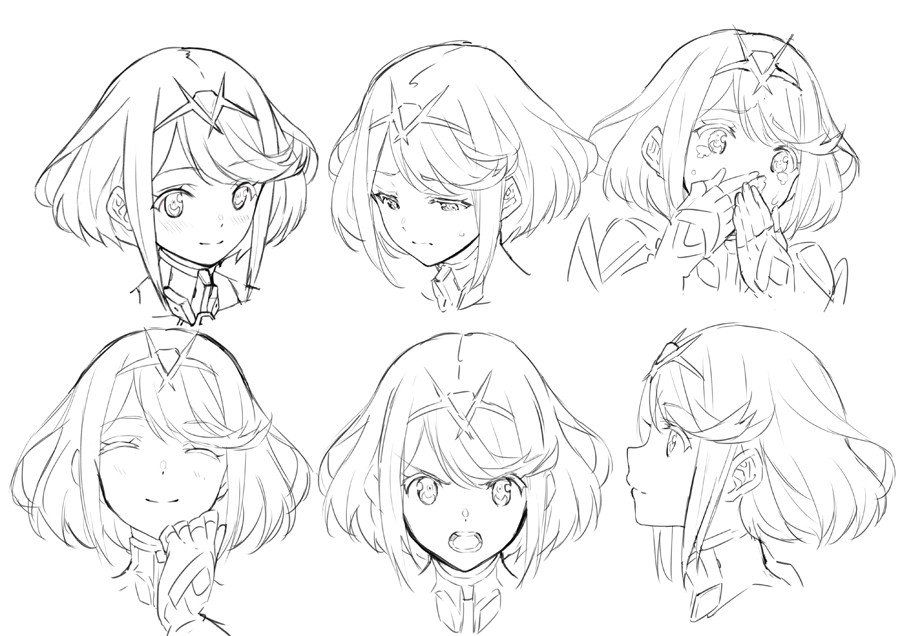 Pin By Inuicta On Paint Drawing Expressions Anime Faces Expressions Anime Character Design