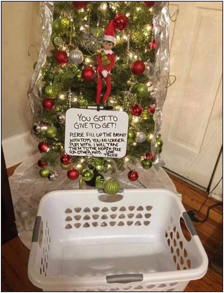 84 themed christmas basket ideas page 25 | Pointsave.net #elfontheshelfideasfortoddlers