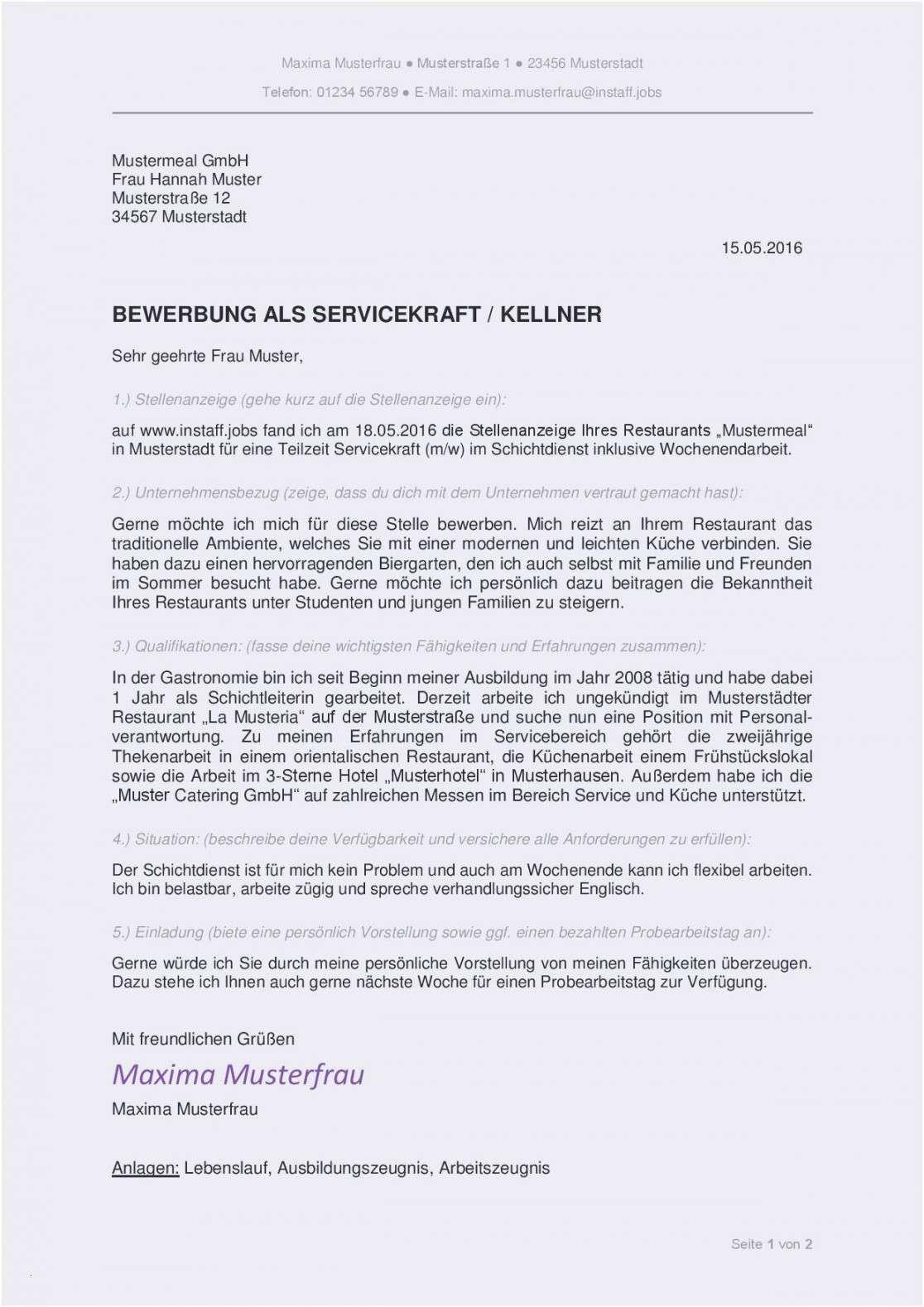 Glamouros Arbeitszeugnis Restaurantleiter Vorlage Bewerbung Schreiben Bewerbungsschreiben Stellenanzeigen
