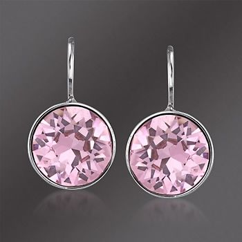 50857b40f35399 bella mini pink earings | ... Swarovski Crystal