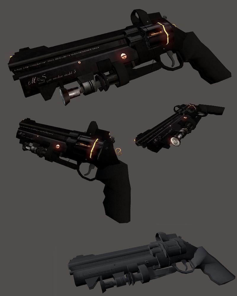 futuristic revolver - Google Search | Game Props | Concept ...