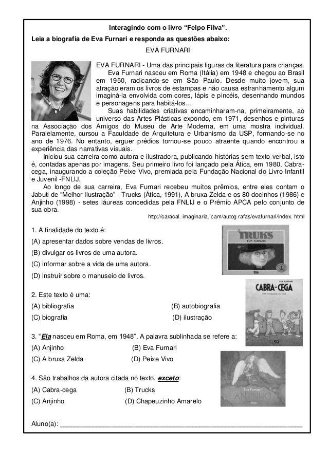 Biografia Eva Furnari Pesquisa Google Atividades De Lingua