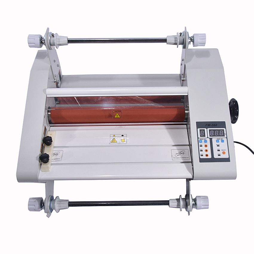 Fm 360 Paper Laminating Machine Students Card Worker Card Office File Laminator Steel Roll Laminating Machine Office Files Laminators Office Equipment