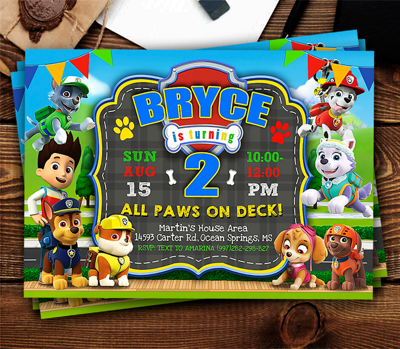Paw Patrol Birthday Invite Template, Paw Patrol Invite, Paw Patrol Birthday Party, Printable Paw Patrol - Paw patrol invitations, Paw patrol birthday invitations, Paw patrol birthday party, Paw patrol party, Paw patrol birthday, 3rd birthday party for boy - or photos, which is permitted for onetime PERSONAL USE  It is very important to note that copyright restrictions on the Characters only permit graphics to be used for one time personal use such as birthday parties  Not all photo labs are aware of this policy and if you have issues with a photo lab refusing to print for you, please try another local photo lab or print at home yourself  We strongly advise all customers read our policies before submitting an order  By making a purchase from our shop you are agreeing to our terms and conditions and have read and understand what your are purchasing
