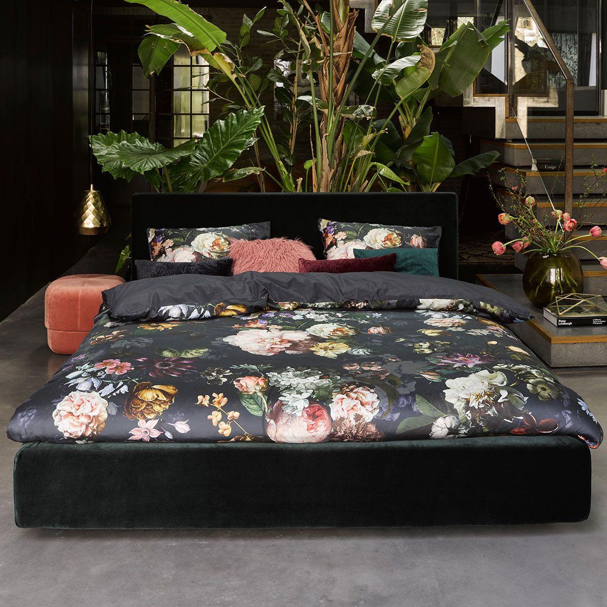 Essenza MakoSatin Bettwäsche Fleur nightblue Home decor