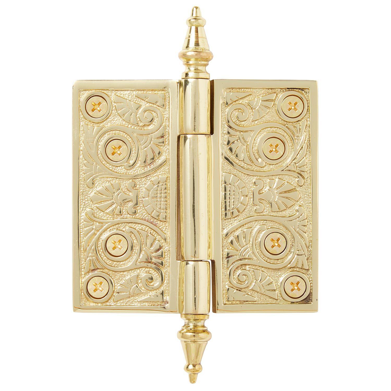 Art Deco Solid Brass Door Hinge