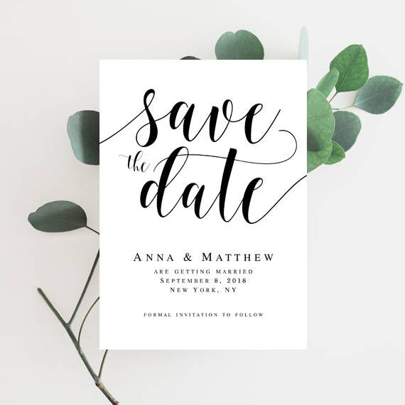 Wedding Save The Date Template Editable Template Wedding Template
