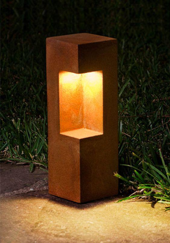 angular and practical led path light from konic lighting driveway
