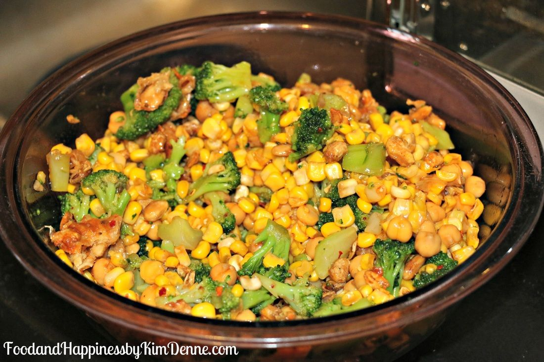 An easy recipe for a cold summer salad enough to feed a
