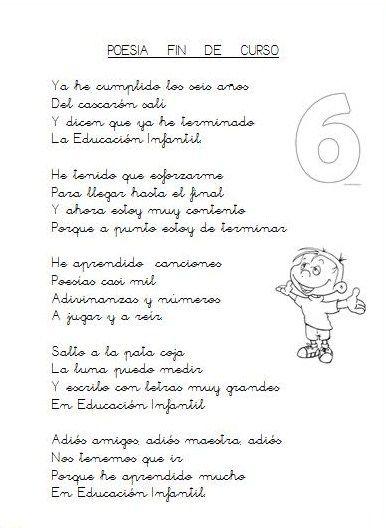 Geli Cano Recursos Para Educación Infantil Graduacion Poesia Para Final De Ciclo Graduacion Infantil Palabras De Graduacion Poesia De Despedida