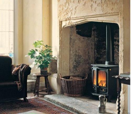po le bois charnwood int gr dans une chemin e. Black Bedroom Furniture Sets. Home Design Ideas