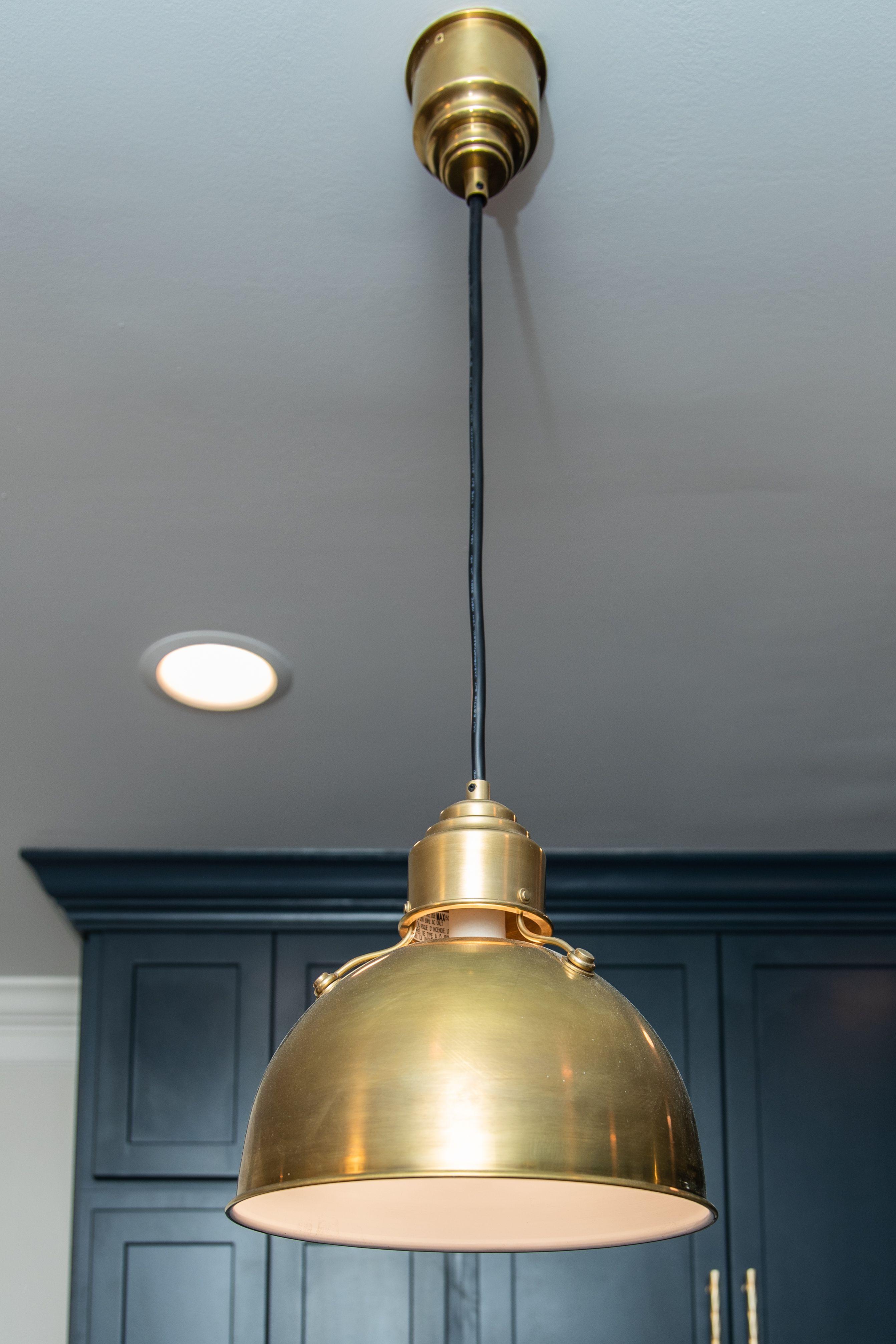 Antique Brass Dome Light Medium Kitchen Sconce Lighting Dome Pendant Lighting Rustic Kitchen Lighting