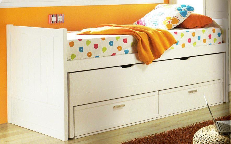 Cama nido compacto lacada 78 f habitaci n infantil - Cama alta conforama ...
