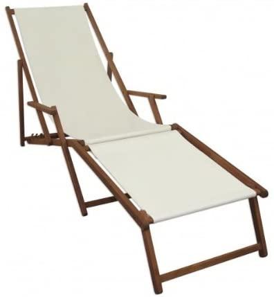 Amazon De Sonnenliege Weiss Liegestuhl Fussablage Gartenliege Holz Deckchair Strandstuhl Gartenmobel 10 303 F Liegestuhl Gartenliege Holz Sonnenliege