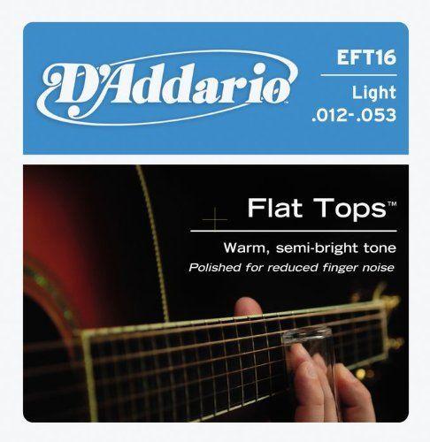 D Addario Eft16 Flat Top Pb Light Acoustic Guitar Strings By D Addario 12 30 Gauges 12 16 24 32 Acoustic Guitar Strings Guitar Lessons Songs Guitar Strings