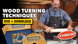 Wood Turning Techniques 3 Video Set Dvd Download Woodworkers Guild Of America In 2020 Wood Turning Turn Ons Video Setting