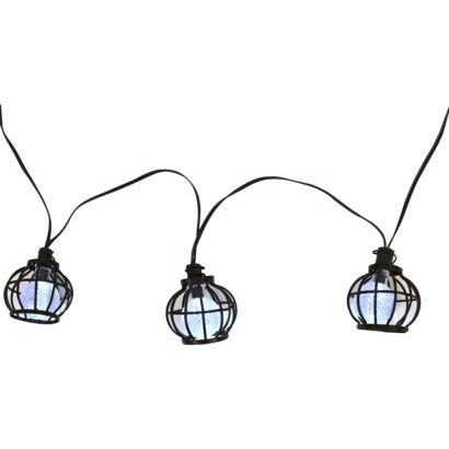 Threshold™ Solar Metal Globe String Lights (20ct) Outdoor Patio String  Lights