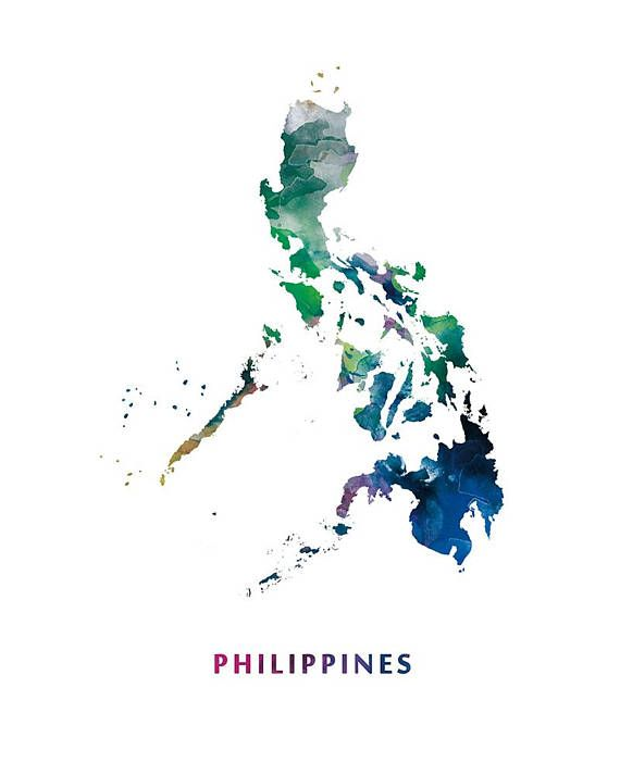 Philippines map print watercolor manila wall art philippines map philippines map print watercolor manila wall art philippines map modern wallart publicscrutiny Images