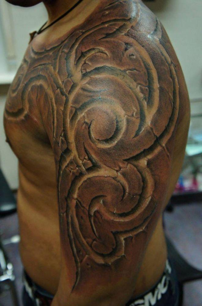 3d Tattoo Tattoos Tatuaże Tribal Na Ramię Tatuaże