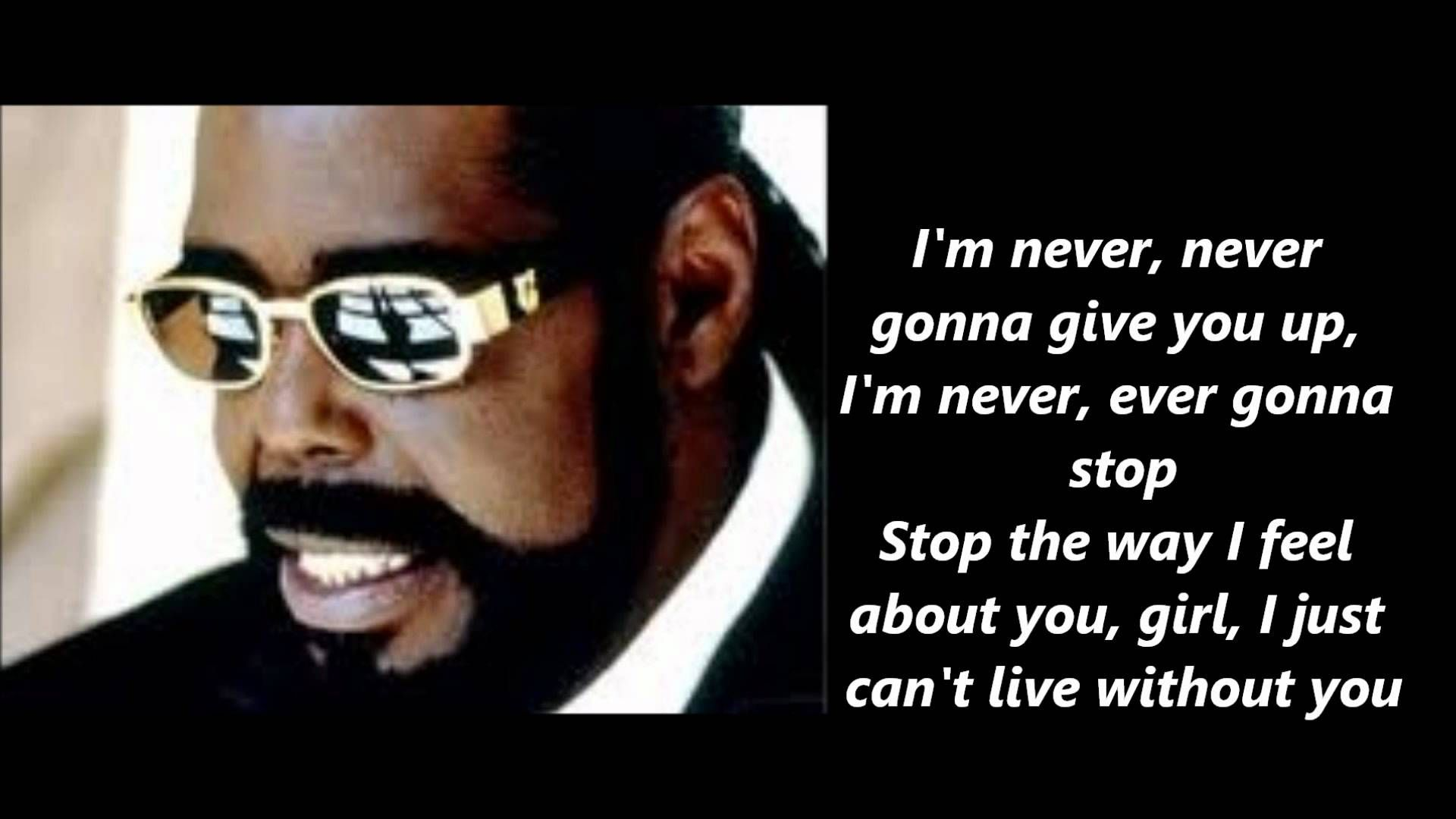 Barry White Never Never Gonna Give You Up Lyrics Lets Hear It High