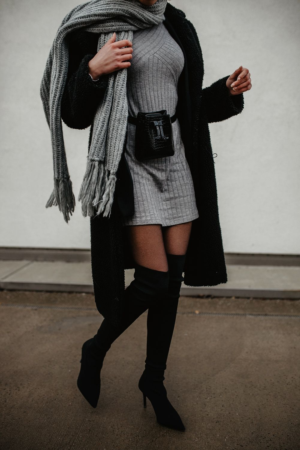 Photo of Overknees Outfit Inspiration: Style black overknee boots!