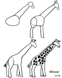How To Draw A Giraffe Legkie Risunki Risovat Risovat Zhivotnyh