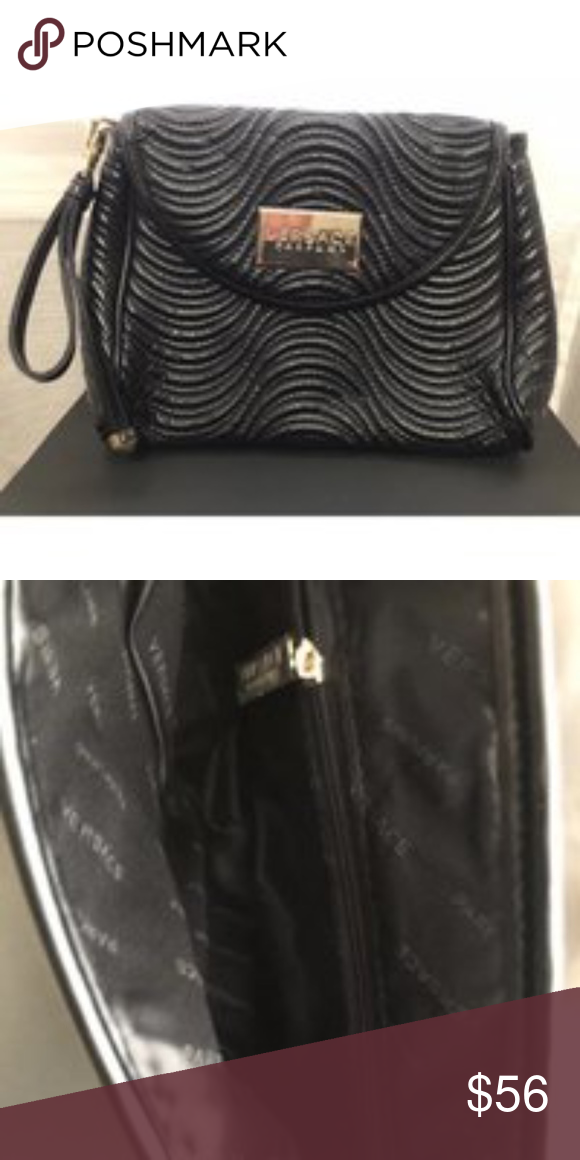 67bde90ff7e1 Versace Black clutch handbag NWOT Beautiful little Versace clutch that can  be casual or elegant