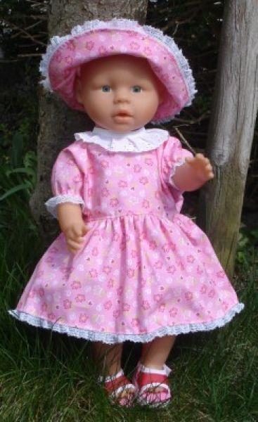 Gratis-Schnitt Sommerkleid für Puppen | Puppenkleider | Pinterest ...
