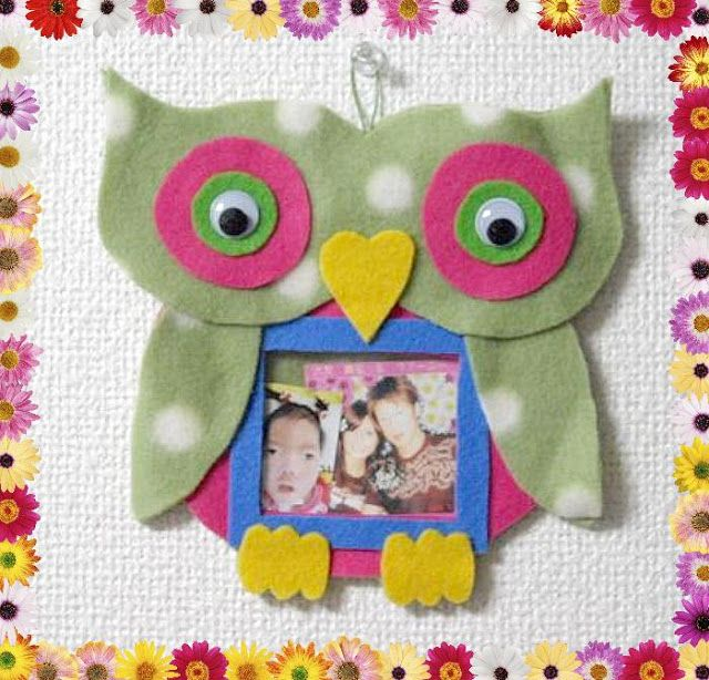 To Sew With Love: Owl Picture Frame (No-Sew or Sew, it's all up to you!^^)