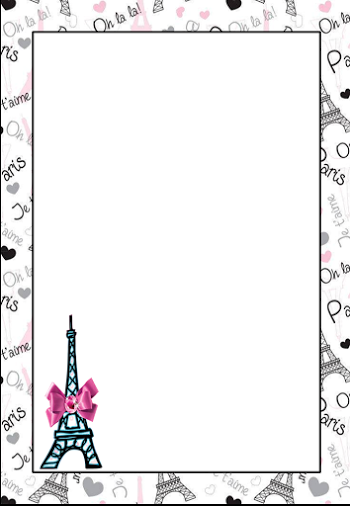 Paris Free Printable Frames, Invitations or Cards. | #colortherapy ...