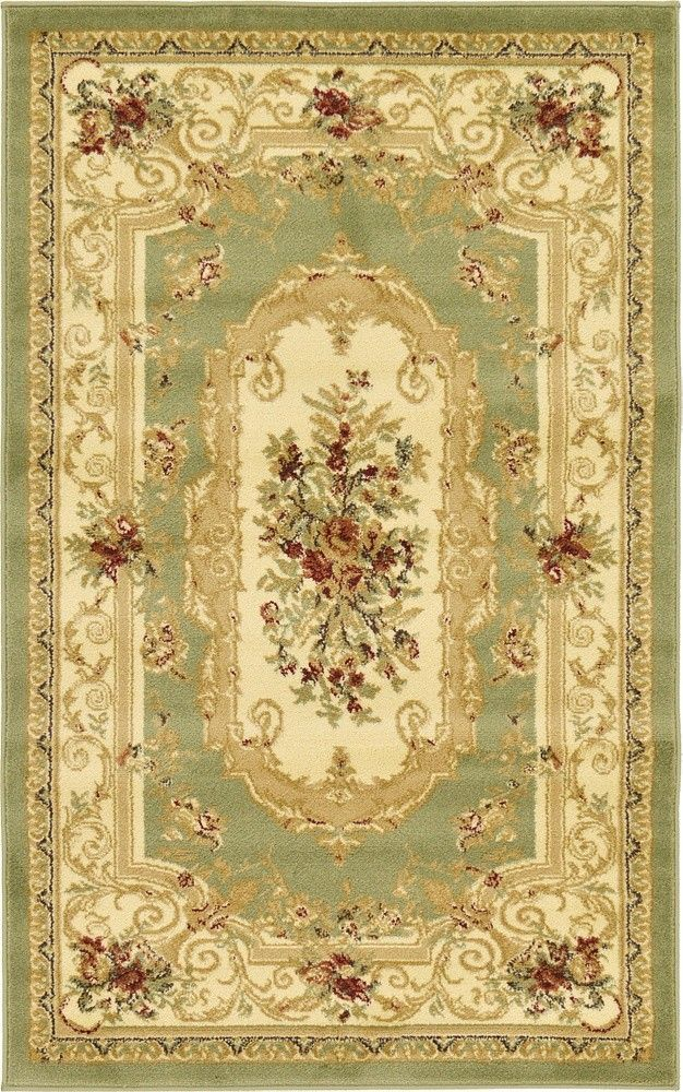 Versailles Green Area Rug Aubusson Rugs Area Rugs Rugs