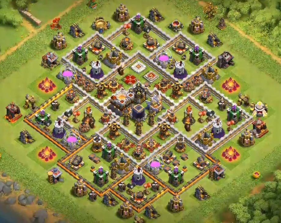 Coc Th 11 Best Defence Base 2019 4