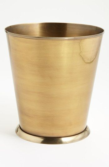 Free shipping and returns on Waterworks Studio 'Wallingford' Wastebasket (Online Only) at Nordstrom.com. <b>Limited Time Savings: Save 20% on selected items for bed, bath and home, now through January 19, 2015.</b><br><br>A burnished brass wastebasket designed with a dose of colonial New England enriches nearly any bathroom décor with its classic lines and refined disposition.