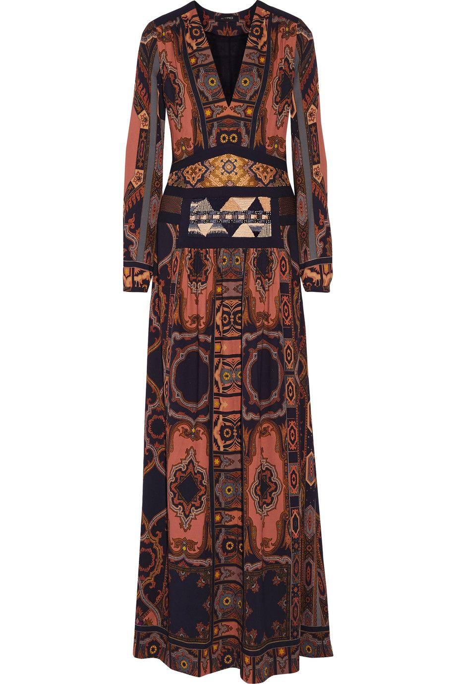 2fa05ea5eb52c ETRO Embellished printed crepe maxi dress. #etro #cloth #dress ...
