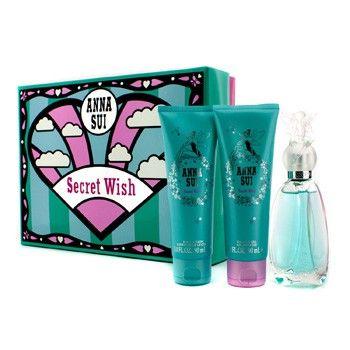 Anna Sui Secret Wish Coffret: Eau De Toilette Spray 50ml/1.7oz + Body Lotion 90ml/3oz + Shower Gel 90ml/3oz 3pcs