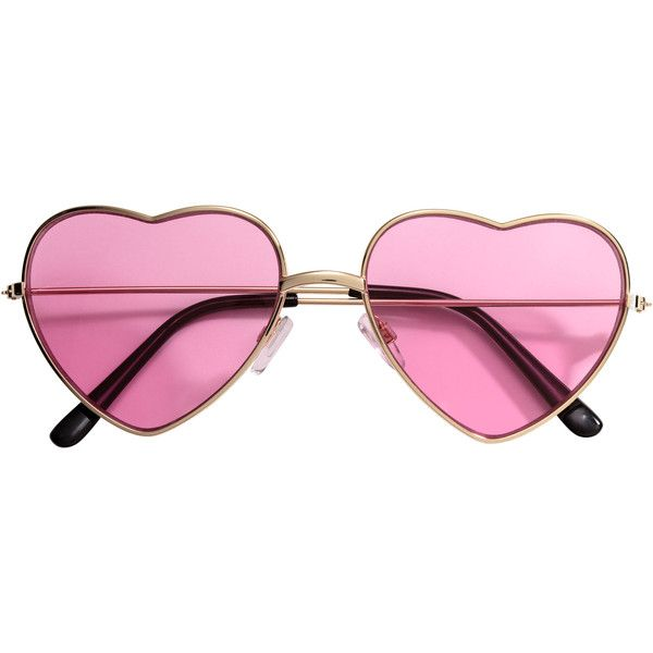 fd151d43701 H M Heart-shaped sunglasses ( 8.40) ❤ liked on Polyvore featuring  accessories