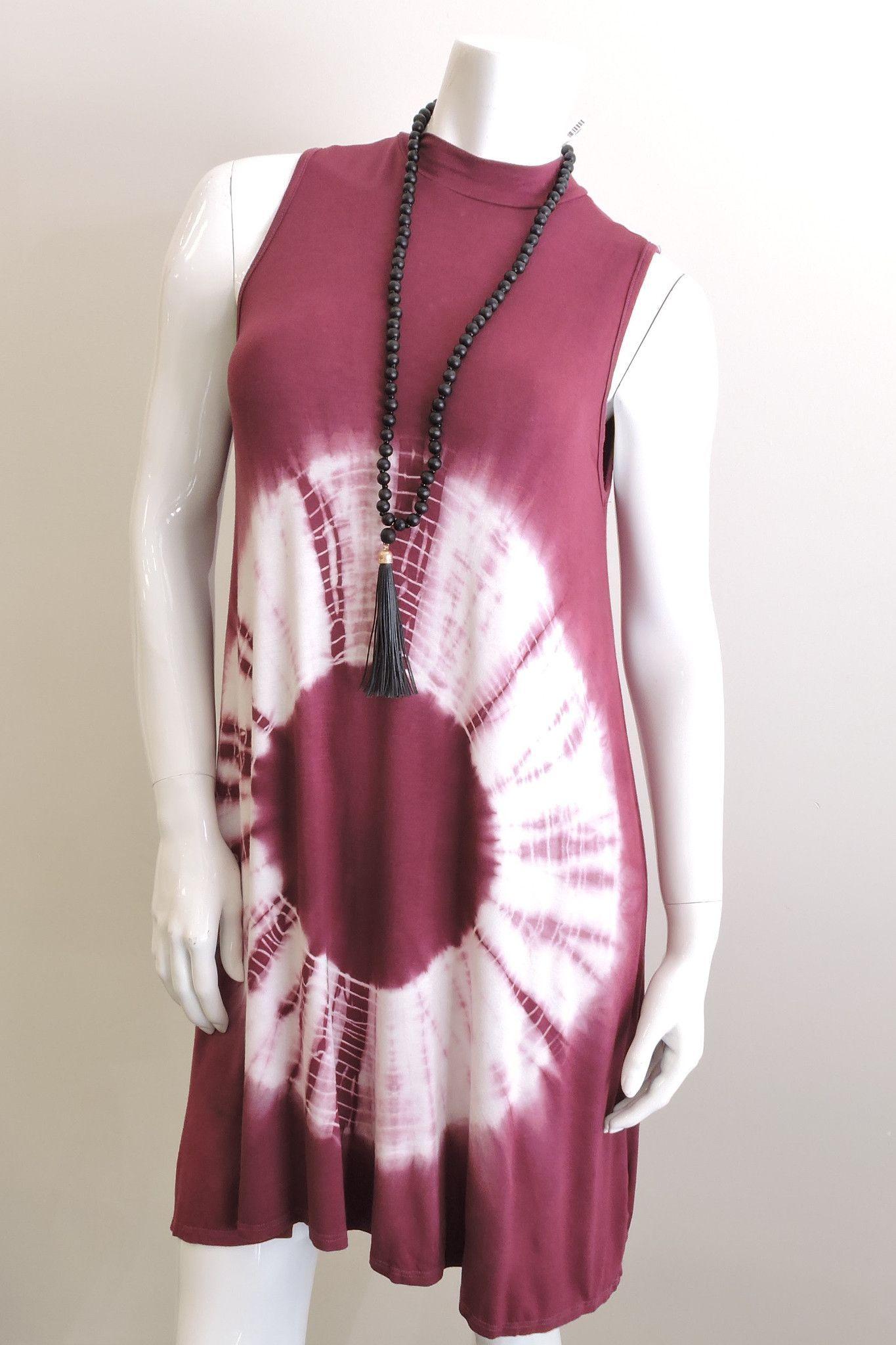 Mockneck Sleeveless Shirtdress
