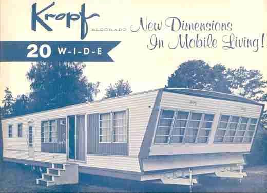 1960 Kropf Mobile Home Trailer Living Mobile Home Trailer Home