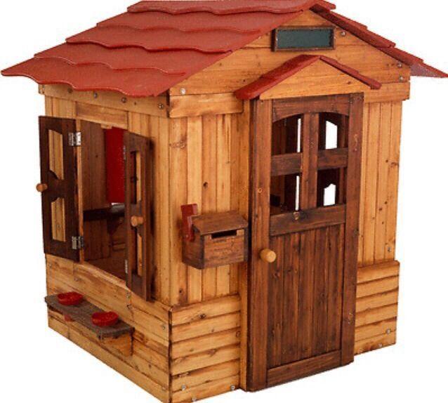 Outdoor Playhouse Weather Resistant Wood Windows Mailbox Pretend Play Kids  New #KidKraft