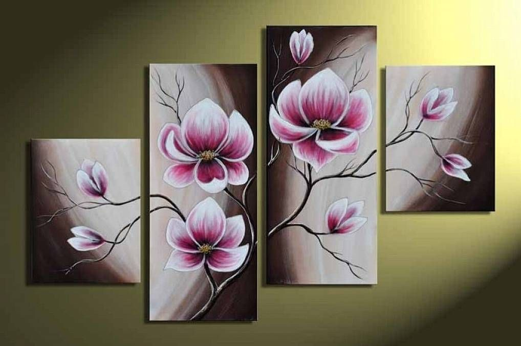 Beautiful Hand Painted Wood Framed Beautiful Purple Flower High Q. Home Decoration  Modern Landscape Oil Painting On Canvas Mixorde Wieco Art