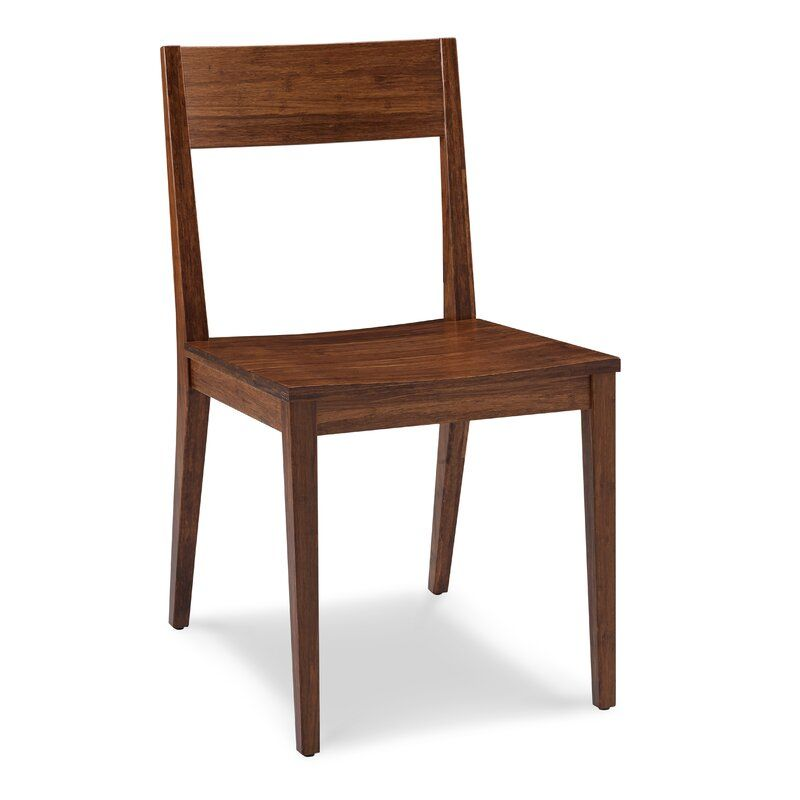 Kirsti Solid Wood Dining Chair In 2020 Bamboo Dining Chairs Solid Wood Dining Chairs Dining Chairs