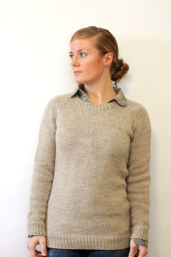 Ladies Classic Raglan Pullover Top Down Worsted By Janerichmond