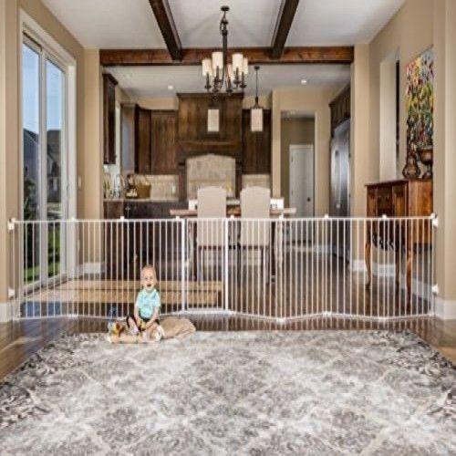 Baby Pet Dog Extra Wide Safety Metal Gate Playpen Indoor